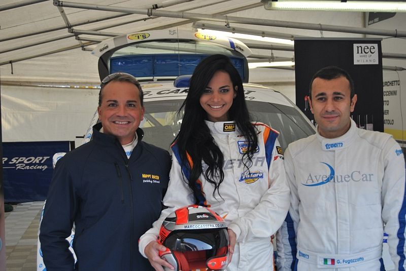 Happy racer e Fulvio Florean al via del rally Franciacorta circuit