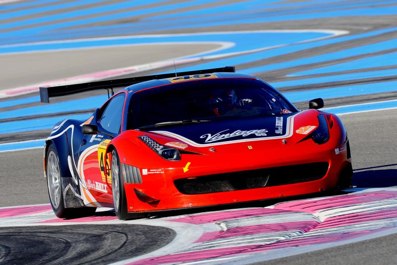 Mirko Venturi Winter Series al Paul Ricard Ferrari 458 GT3 del Black Bull Racing Team