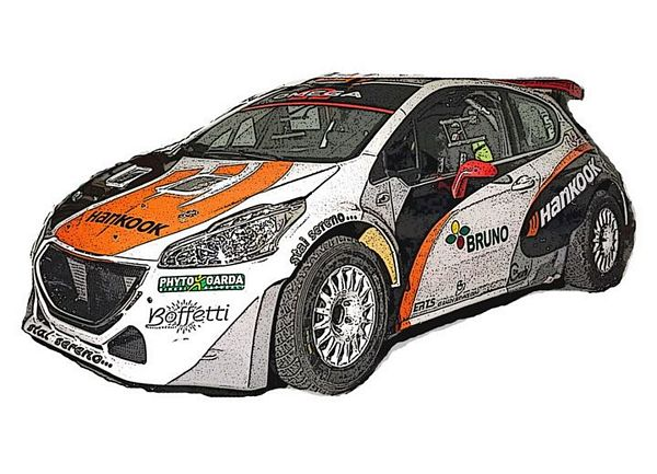 Davide Pighi Peugeot 208 T16 R5 ERTS-Hankook Competition