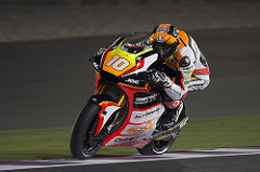 Losail amara per il Forward Racing Team