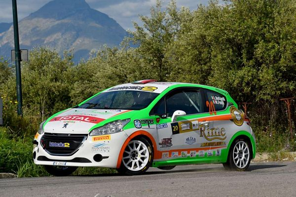 Luca Bottarelli al Rally dell'Adriatico Peugeot 208 R2B New Turbomark