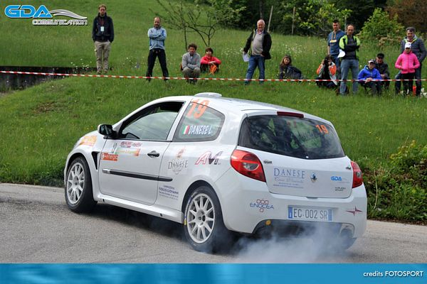 GDA Communication e Luca Danese in crescita al Rally del Bellunese