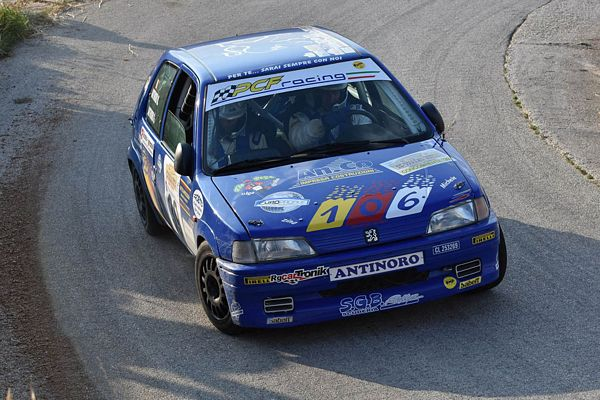 Michele Antinoro Peugeot 106 gruppo A slalom Sant'angelo Muxaro