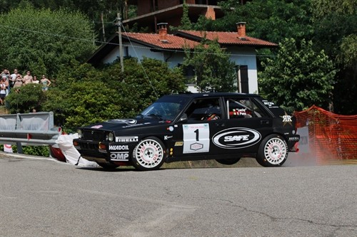 Al Rally Lana Storico Lucky su Lancia Delta guida la classifica