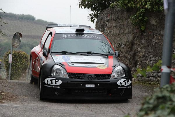 Brusco stop per Gianesini al Rally Valli Vesimesi