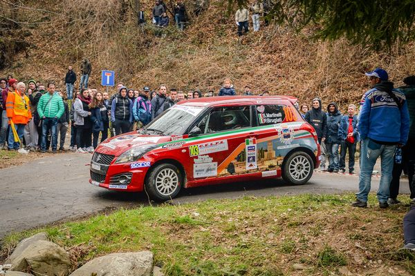 Martinelli al Rally del Ciocco su Suzuki Swift 1.0 Boosterjet RS