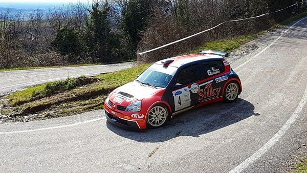 Marco Gianesini secondo al Rally Colli Scaligeri  su Renault Clio S1600