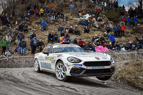 Christopher Lucchesi Abarth 124 rally Selenia International Challenge