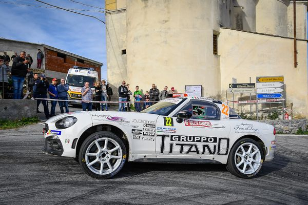Christopher Lucchesi vince l'Abarth 124 rally Selenia International Challenge a Sanremo