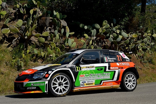 Leopoldo Maestrini in training al Rally Alta Val di Cecina