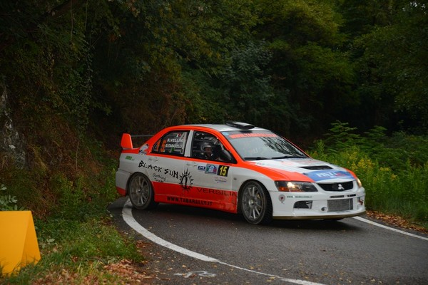 Daniele Tabarelli al Rally Due Valli su Mitsubishi Lancer Pintarally