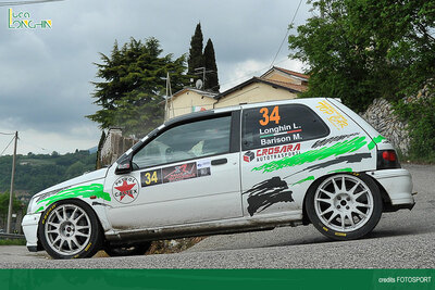Luca Longhin al Rally Valli della Carnia su Renault Clio Williams