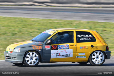 Gabriele Sarto 4. al Adria International Raceway su Renault Clio Williams